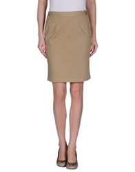 Love Sex Money Collection Knee Length Skirts Khaki