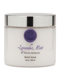Lavender Mint Bath Salt Jar 22 Oz. Niven Morgan