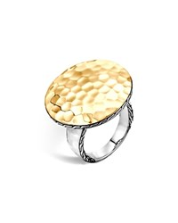 John Hardy Palu 18K Gold And Silver Round Ring