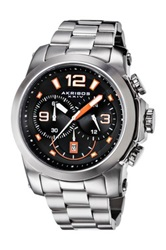 Akribos Xxiv Men's Multifunction Chronograph Stainless Steel Bracelet Watch Metallic