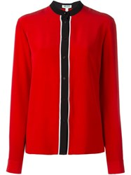 Kenzo Band Collar Blouse Red