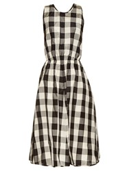 Rochas Madras Check Print Silk And Cotton Blend Dress