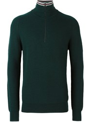 Lanvin Zip Turtle Neck Pullover Green