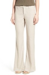 Nydj 'Claire' Linen Blend Wide Leg Trousers Regular And Petite Beige
