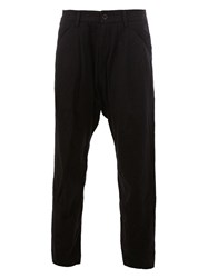 Ziggy Chen Panel Detail Tapered Trousers Blue