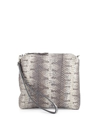 Carlos Falchi Watersnake Wristlet Gray