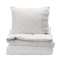 Gant Stars And Stripes Duvet Cover Light Grey Single 140 X 200 Cm