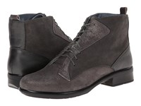 Naot Footwear Mistral Gray Shimmer Leather Gray Suede Metallic Road Leather Women's Boots Brown