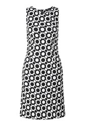 James Lakeland Diamond Jacquard Dress White