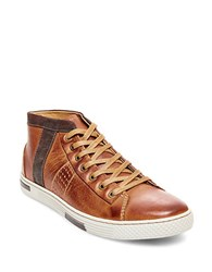Steve Madden Ignyte Leather Sneakers Tan