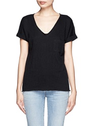 Rag And Bone V Neck Pocket Cotton T Shirt