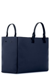 Troubadour Men's Nylon And Leather Tote Bag Blue Navy Nylon Navy Leather