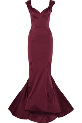 Zac Posen Duchesse Satin Gown Purple
