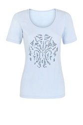 Damsel In A Dress Seashell T Shirt Blue