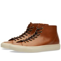 Buttero Tanino Mid Leather Sneaker Brown