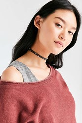 Urban Outfitters Alissa Studded Choker Necklace Black