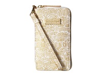 Lilly Pulitzer Tiki Palm Iphone 6 Gold Metallic Upscale Cell Phone Case
