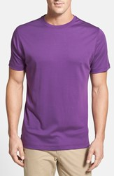Robert Barakett Men's 'Georgia' Crewneck T Shirt Imperial Purple