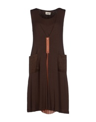 Niu' Knee Length Dresses Dark Brown