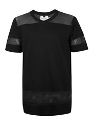 Topman Black Mesh Baseball T Shirt