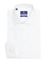 Chester Barrie Stripe Tailored Fit Long Sleeve Formal Shirt White