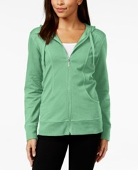 Styleandco. Style And Co. Petite Zip Front Hoodie Fresh Mint