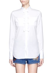 Valentino Bow Cotton Poplin Shirt White