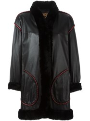 Yves Saint Laurent Vintage Lambskin Coat Black