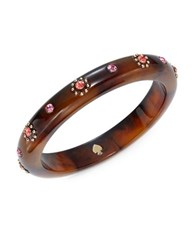 Kate Spade Out Of Her Shell Crystal Accented Bangle Dark Brown