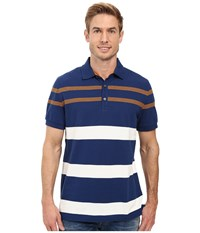 Nautica Short Sleeve Yd Stripe Polo Estate Blue Men's Short Sleeve Knit Navy