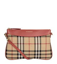 Burberry Shoes And Accessories Peyton Horseferry Check Clutch Bag Female Rose