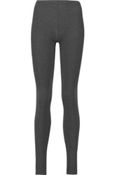 Majestic Cotton Blend Jersey Leggings Charcoal