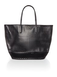 Seafolly Double Dot Tote Beach Bag Black