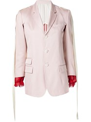 Undercover Single Breasted Blazer With Red Cuffs Pink And Purple