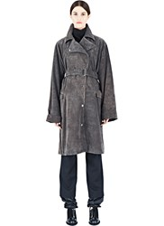 J.W.Anderson J.W. Anderson Long Suede Trench Coat Grey
