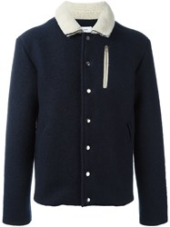 Soulland 'Horgh' Woolen Coach Jacket Blue