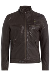 Blauer Leather Jacket Brown