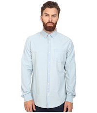 Original Penguin Long Sleeve Indigo Lawn Deep Water Men's Long Sleeve Button Up Blue