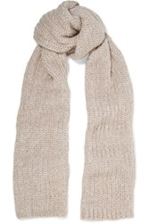 Maje Knitted Scarf Neutral