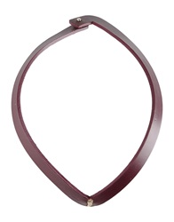 Oblique Necklaces Deep Purple