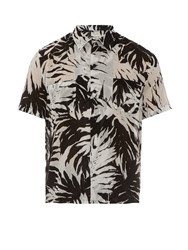 Saint Laurent Palm Leaf Print Short Sleeved Shirt