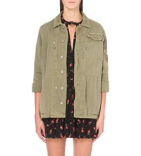 Free People Military Cotton Jacket Olive