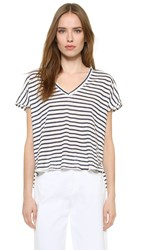 Feel The Piece Adriana Striped Tee Natural Navy