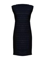 Aftershock Dolya Black And Navy Short Dress Multi Coloured