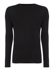 Label Lab Men's Nova Raglan Sleeve Crew Neck Black