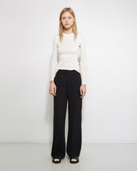 Alexander Wang Crepe Wide Leg Trouser Black