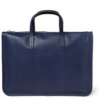 Loewe Toledo Leather Briefcase Navy