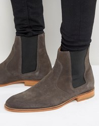 Selected Homme Dexter Suede Chelsea Boots Grey