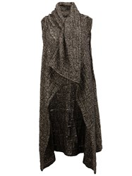 Lost And Found Ria Dunn Sleeveless Cardigan Grey