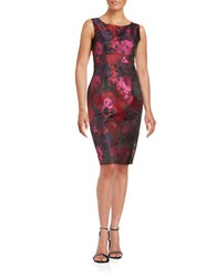 Nipon Boutique Floral Sheath Dress Red